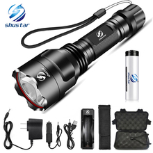 Super bright LED Flashlight 5 lighting modes Led Torch for Night Riding Camping Hiking Hunting & Indoor Activities Use 18650