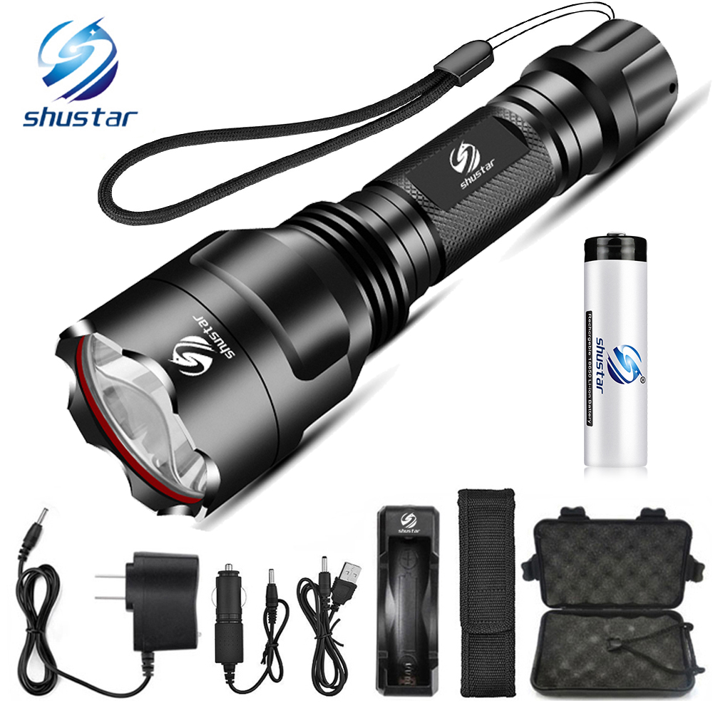 Super bright LED Flashlight 5 lighting modes Led Torch for Night Riding Camping