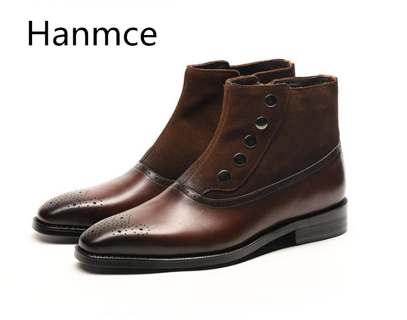 Quality Genuine Cow Leather Chelsea Boots Mens Brogue High Top Wedding Dress Men Shoes Brand Designer Business Casual Work BootsQuality Genuine Cow Leather Chelsea Boots Mens Brogue High Top Wedding Dress Men Shoes Brand Designer Business Casual Work Boots