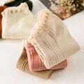 1Pairs/Lot Spring women socks new cotton double needle lace socks  female ladies leisure short tube socks wholesale