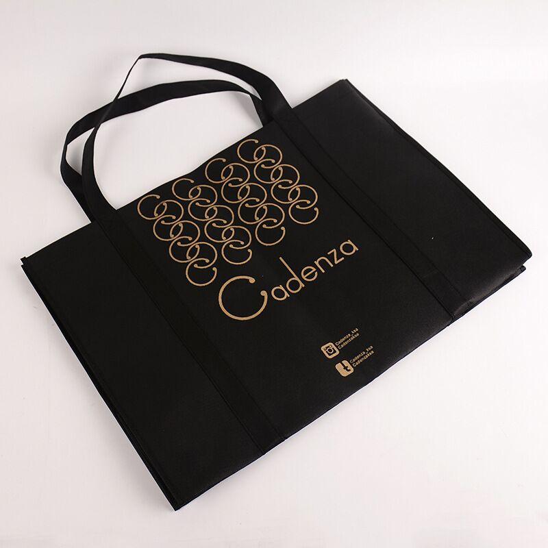 wholesale 500pcs/lot personalized 100g non Woven Bag Reusable Tote Bags Custom printed logo Foldable supermarket Shopping Bags