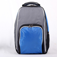 backpack style picnic thermal bag blue / red food delivery backpack thick insulated cooler bag