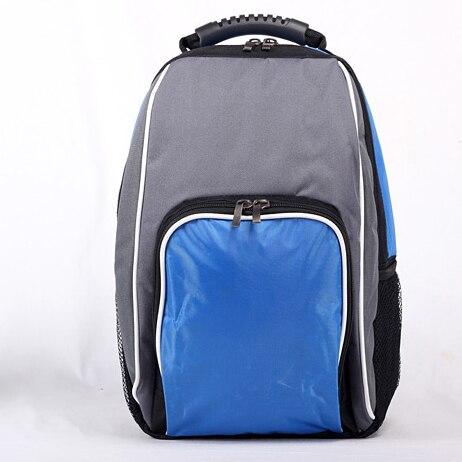 e1c53f3543c Rugzak stijl picknick thermische bag blauw/rood voedsel levering rugzak  dikke geïsoleerde koeltas