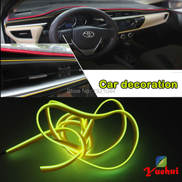 2017 Hot Sale 12V Sound Activated Driver By 2.3mm-Skirt 3 Meters EL Wire Cars/Ships Internal and Easter Party Decoration
