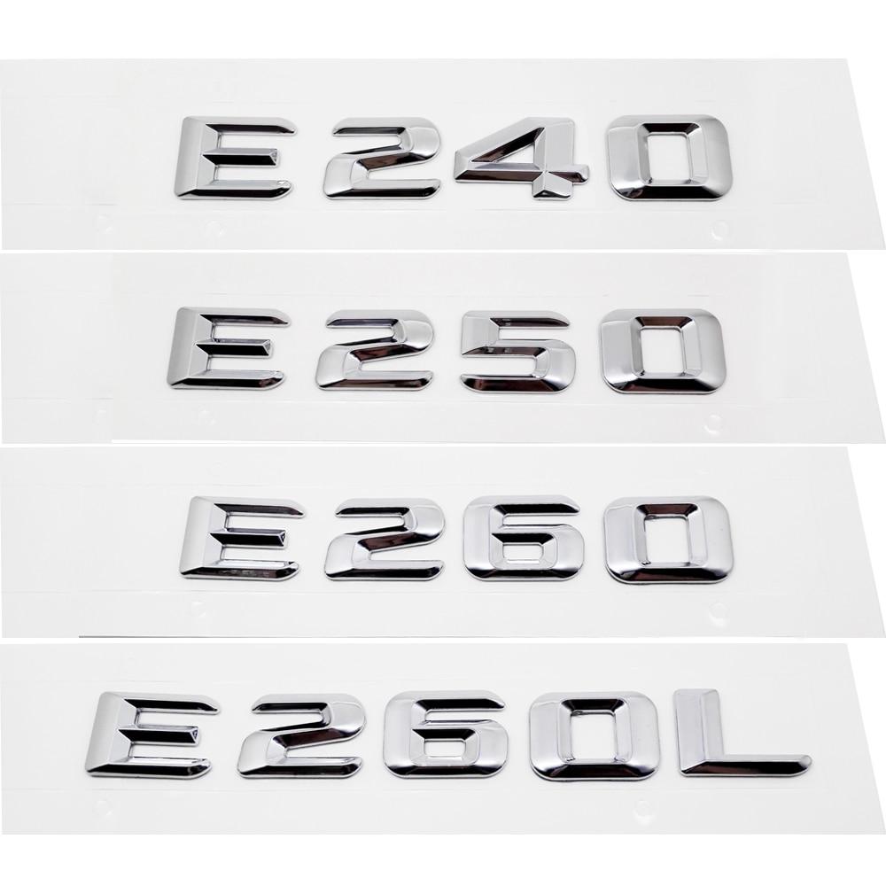 Metal 3d Styling Car Exterior Decal Accessories Rear Tail Badge For Amg Mercedes Benz E240 E250 E260 E260l E280 E300 E320 E320l Automobiles & Motorcycles