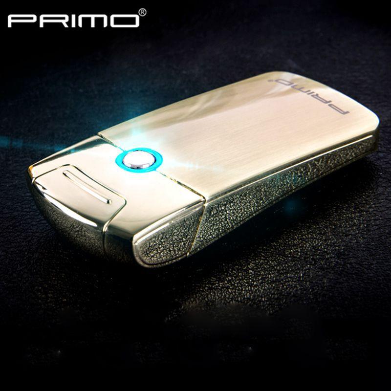 Fashion Intelligent Metal USB Arc Lighter Electric Pulse Arc Lighter Slim Windproof flameless cigarette lighter 011