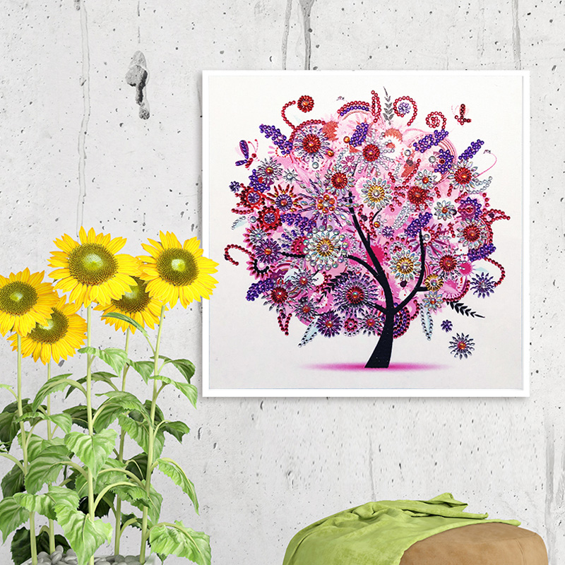 RUBOS DIY 5D Diamond Embroidery Colorful Tree Butterfly Bead Diamond Painting Cross Stitch Pearl Crystal Sale Hobby Gift Decor (23)