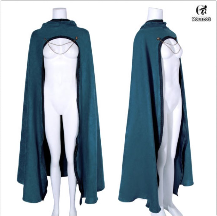 Medieval Hooded Cloak  Long Capes Cosplay Halloween Costume Fancy Dress Unisex