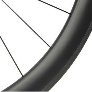 Image 4 - Высококачественное бескамерное углеродное велосипедное колесо, 38 мм, 50 мм, 60 мм, 88 мм, глубина 700c, дорожный велосипед, комплект колес DT240S /DT350S, ступица Sapim CX Ray спицы
