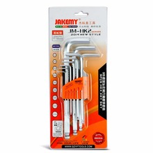 JAKEMY 9pcs/set Hex Key Set Durable Chrome-vanadium Ball Ended Allen Key Wrench Set L-Type Wrench Hexagon Mechanic Tool Set within fujiwara mini folding orange ball hex wrench tool set of high end gift boxes with hex wrench