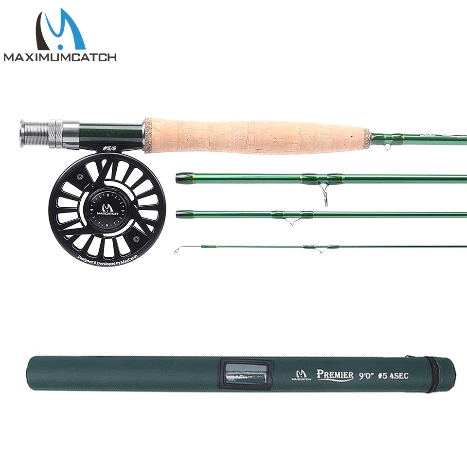 Maximumcatch Fly Fishing Rod with Reel Combo IM10 36T Fly Rod Faction Action & CNC Machined Fly Reel with Cordura Tube 3-10WT maximumcatch graphite im10 cordura rod tube 1wt fly rod 6ft medium fast fly fishing rod