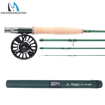 Maximumcatch Fly Fishing Rod with Reel Combo IM10 36T Fly Rod Faction Action & CNC Machined Fly Reel with Cordura Tube 3-10WT