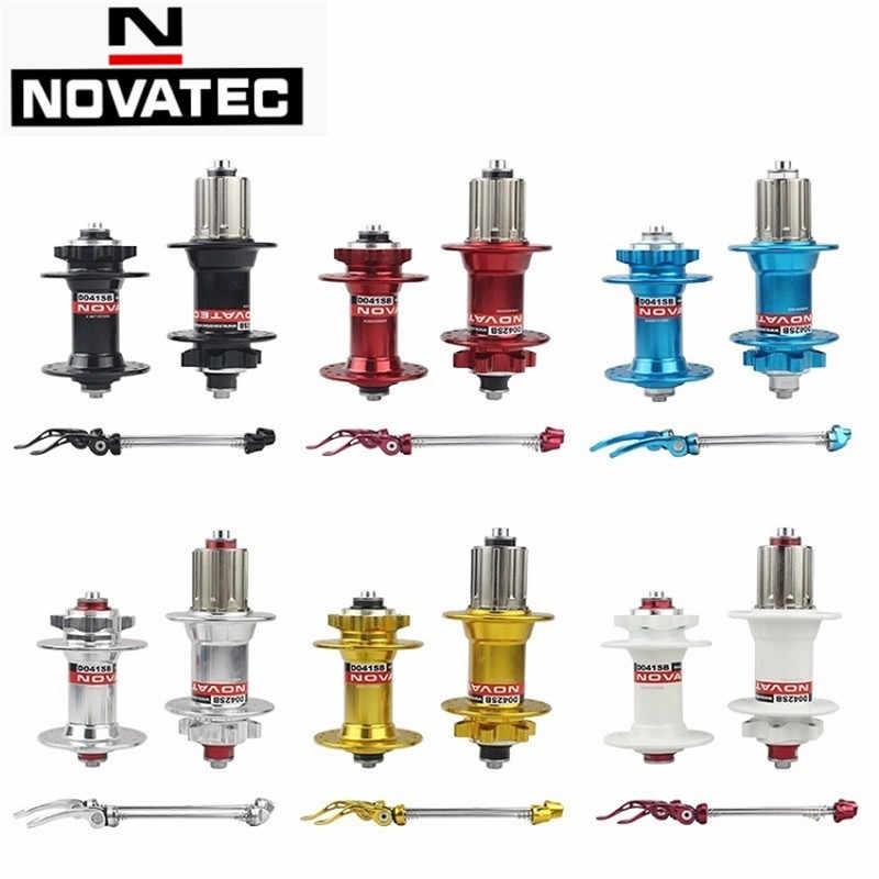 NOVATEC D041SB D042SB frontal * eje de freno de disco trasero 100/135mm 24/28/32/ 36 agujeros 8/9/10 velocidad bicicleta casete Base Hub