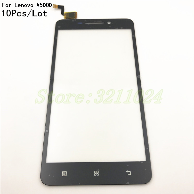 10Pcs/Lot For Lenovo A5000 cell phone sensor Touch Screen digitizer with glass with Logo Mobile Phone Touch Panel
