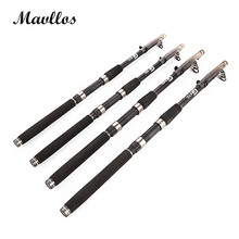 Mavllos Carbon Telescopic Fishing Rod 1.8m-3.6m Lure Weight 60-120g Super Hard Saltwater Sea Fishing Spinning Rod Pole Combo