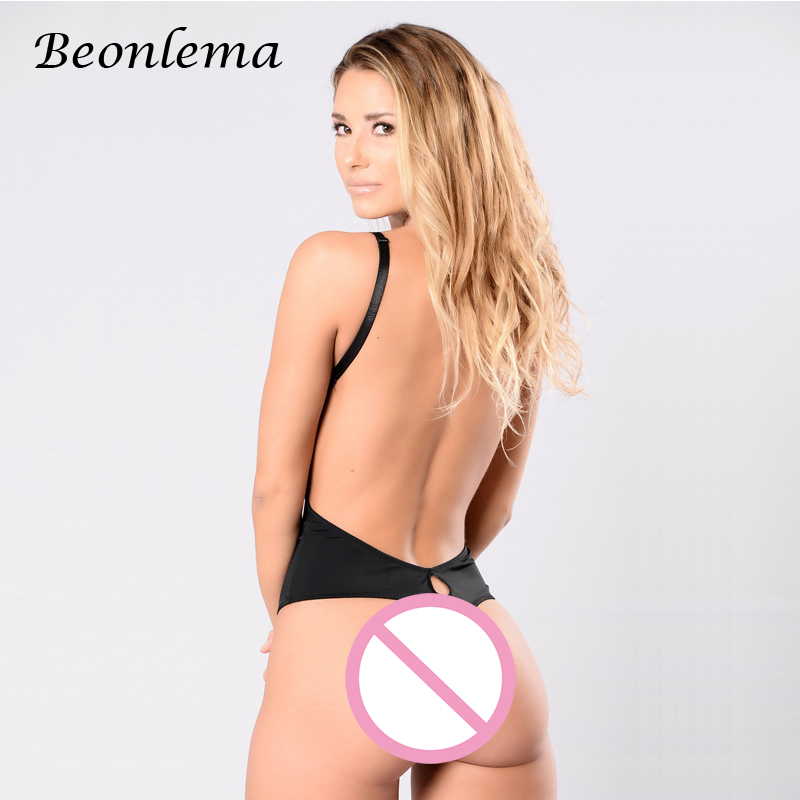 Beonlema Body Shaper Bodysuit Sexy Waist Trainer Slimming Underwear Corset Backless Push Up Black Bodysuit Shaperwear Women Tops
