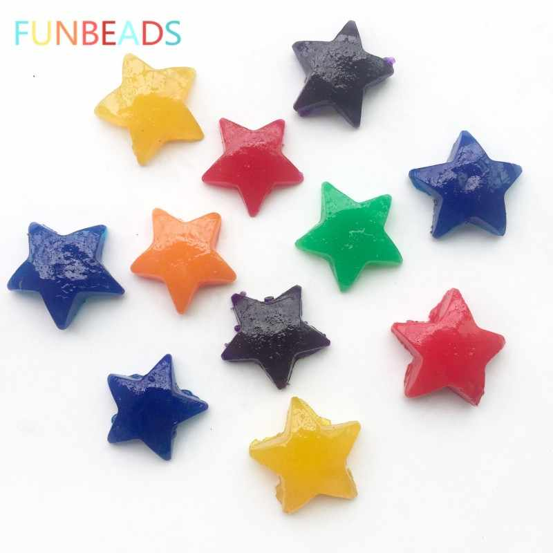 100g/lot Star Shape Mixed Color Jelly Crystal Soil Growing Up Water Balls Inflated Hydrogel Gel Orbizi Ball Water Beads