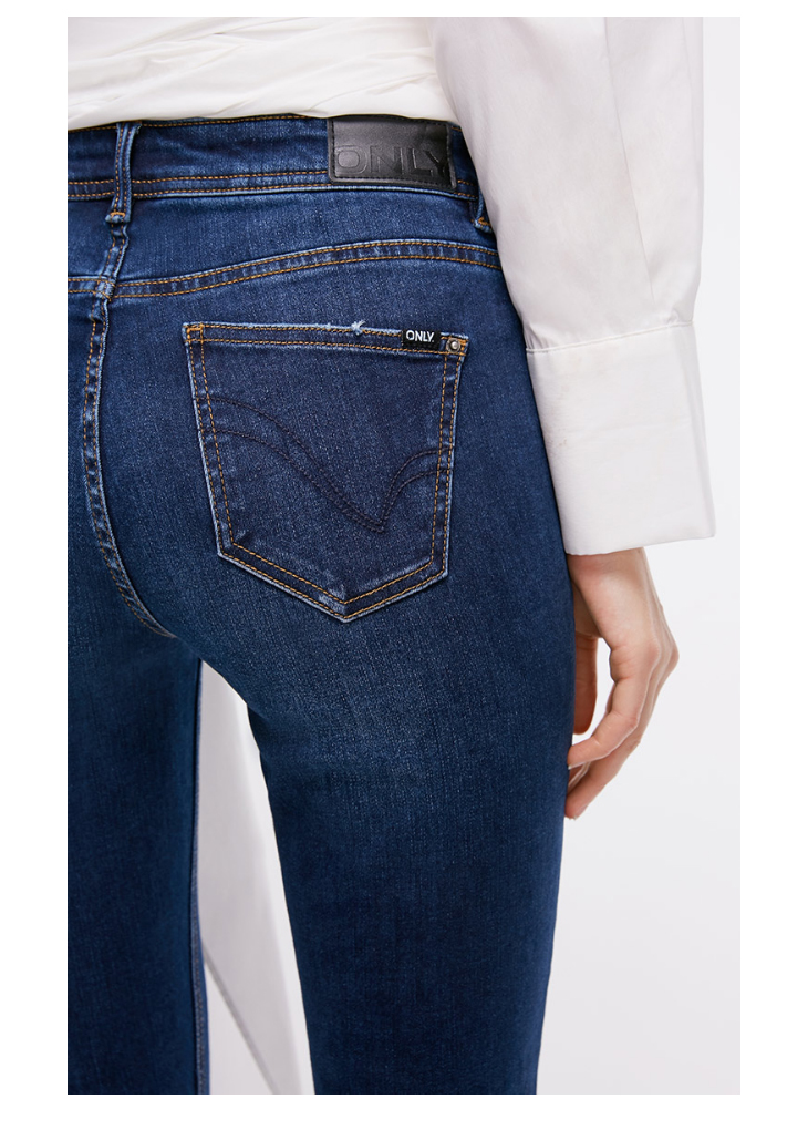 ONLY Women's autumn new low waist slim cropped jeans| 118349591 10