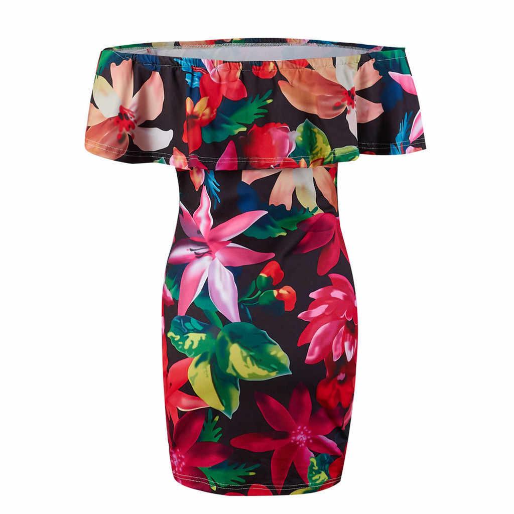 Damska damska lato Polka Dot Sexy jedno ramię sukienki mocno w stylu Vintage niebieski biały czarny krótki rękaw sukienka # g8