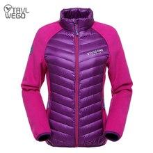 TRVLWEGO Sportswear Hiking 87% White Duck Down Jacket Female Windbreaker Warm Sports Coat Camping Hiking Outing Jackets Women