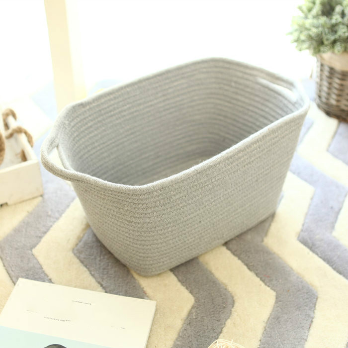 4 Color Europe Style Environmental Protection Cotton Storage Bag Basket Clothing Laundry Basket