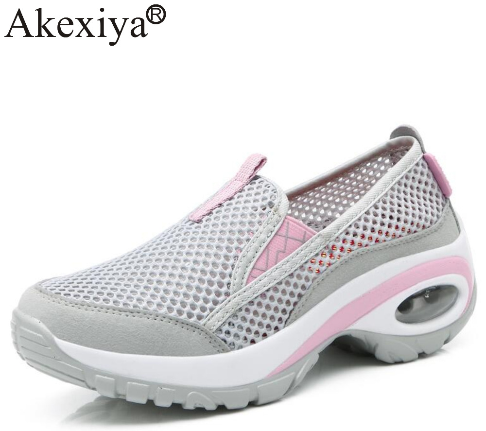 Akexiya Women Height Increasing Sport Shoes Breathable Wedges Platform Shoes Outdoor Comfortable Woman SneakersAkexiya Women Height Increasing Sport Shoes Breathable Wedges Platform Shoes Outdoor Comfortable Woman Sneakers