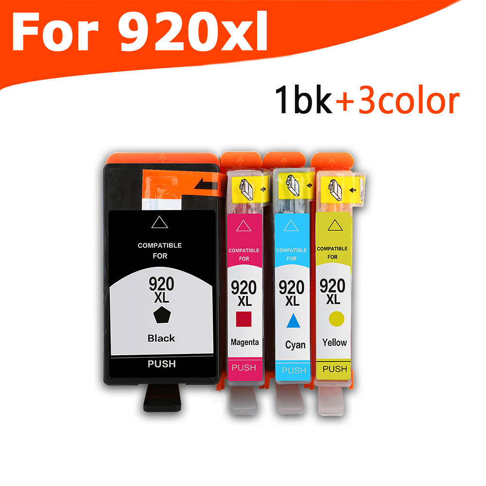 4PCS 920 compatible ink cartridge for HP 920XL For HP920 Officejet 6000 6500 6500A 7000 7500 7500A printer with chip inkarena refilled ink replacement for hp 920 xl 100ml bottle ink dye refill officejet 6000 6500 6500a 7000 7500 7500a printer