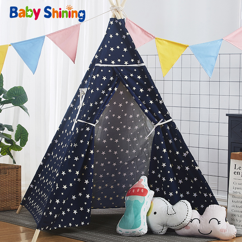 Baby Shining Room Play Tent for Kids Cotton 120x120x160CM 47x47x63in Children Play House Portable Easy Storage