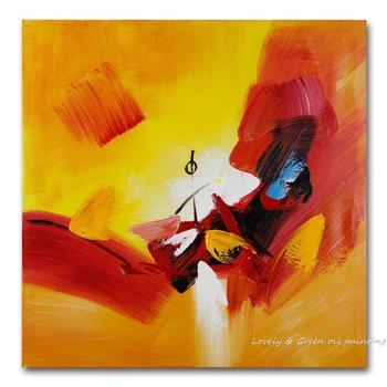 Pintura al óleo abstracta pintada a mano en lienzo el Color de la vida de la Oficina del hogar Hotel decoración de la pared pintura cuadro envío gratis