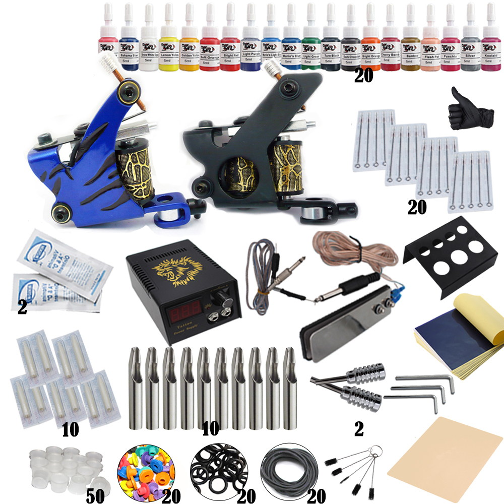 Hot Selling 1 Set Professional Body Tattoo Machine Power Supply Tattoo Equipment Tattoo Kit For Tattoo Beginner Free ShippingHot Selling 1 Set Professional Body Tattoo Machine Power Supply Tattoo Equipment Tattoo Kit For Tattoo Beginner Free Shipping