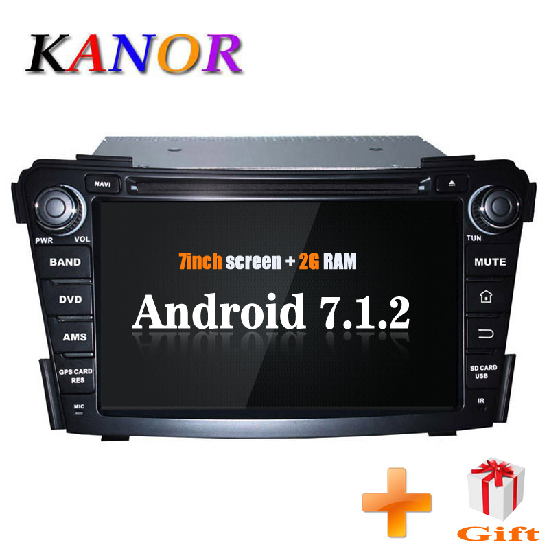 KANOR 7 дюймов Android 2 Din автомагнитола для Hyundai I40 с gps-навигация радио <font><b>Bluetooth</b></font> RDS карта Wi-Fi <font><b>Car</b></font> мультимедиа головного устройства