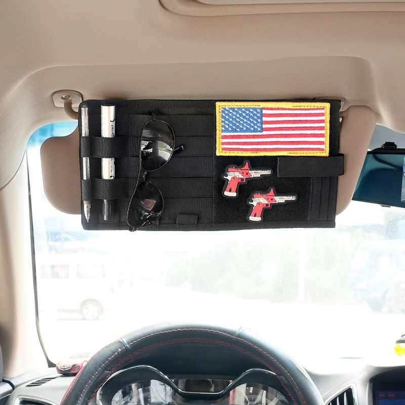 CQC Tactical MOLLE Vehicle Sun Visor Organizer Panel Multi-pocket Storage Bag Truck Car Auto Accessories EDC Tool Pouch Holder