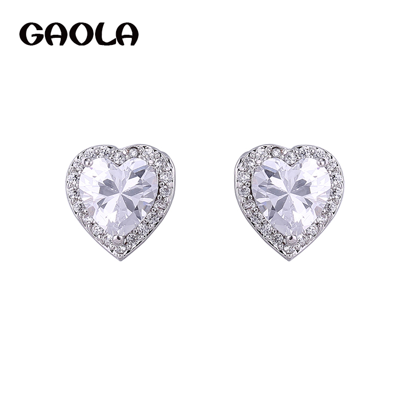 GAOLA 2016 Free Shipping High Quality Beautiful Packing Fashion Silver Plated Hot Sale Earrings GLE4335