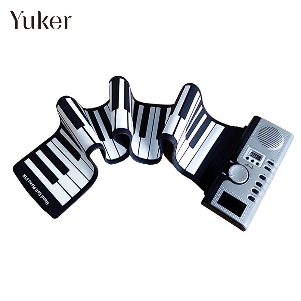 Clavier électronique Flexible pour orgue électronique Piano 61 touches USB recharge pour Piano avec haut-parleur haut-parleur éducation silicone