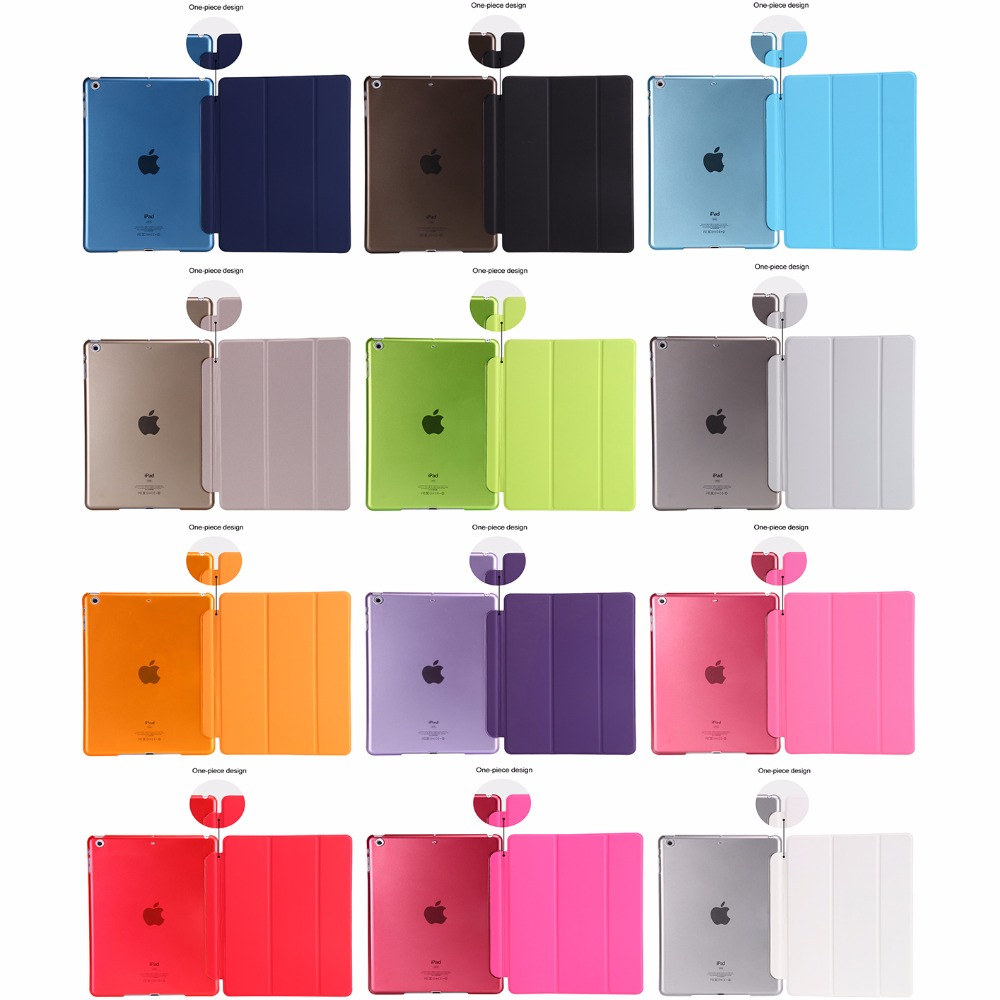 Ultra-thin Magnetic Case For IPad 9.7 2017 2018 New Model A1822/A1893 Smart PU Leather Funda Cover With Auto Sleep/Wake + Film