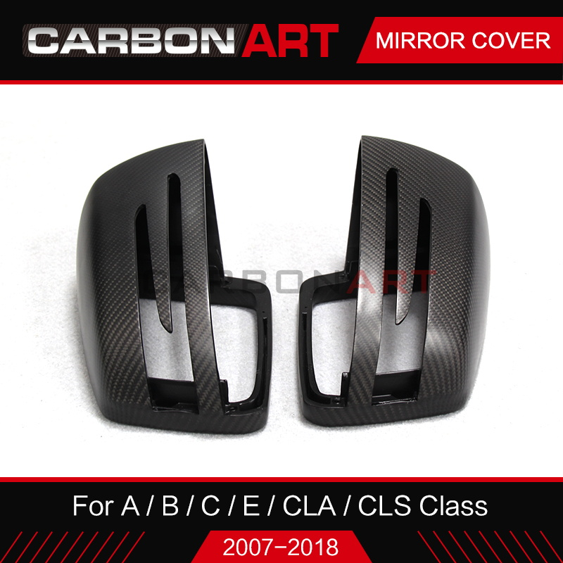 Carbon fiber mirror cover for Mercedes C class W204 CLS W218 CLA W117 A W176 B class W246 auto parts replacement mirror cap in Mirror Covers from Automobiles Motorcycles