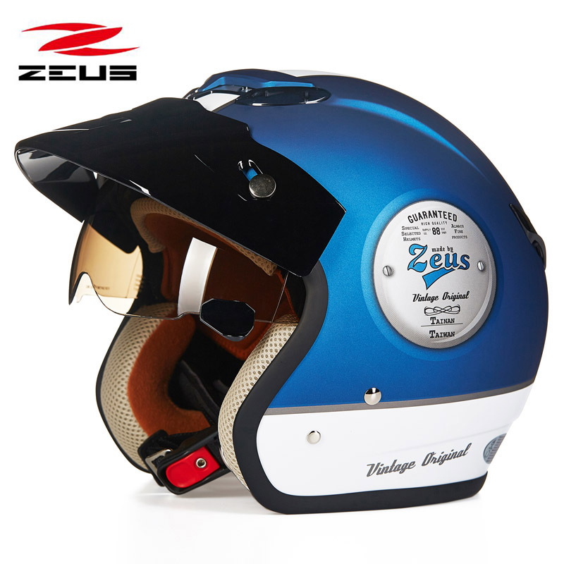 Vintage Cruiser Motorcycle Helmet Chopper 3 4 Open Face Helmet Moto Casque Casco motocicleta Capacete Pilot