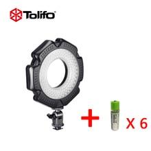 Tolifo R-160S Video Light LED Ultra Thin Led Ring Light For Photography Dimmable Digital Camera + 6 pcs 1200mAh AA USB battery