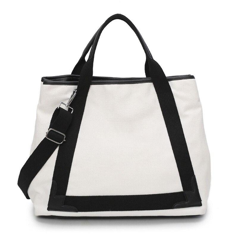 Новинка 2019, холщовая Вместительная женская сумка через плечо с широким ремешком, повседневная сумка тоут с буквенным принтом, сумка мессенд