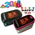 10 pieces/Lot~~~LED Display 5 color choice Design Fingertip Pulse Oximeter Spo2  PR monitor  Blood Oxygen meter Monitor