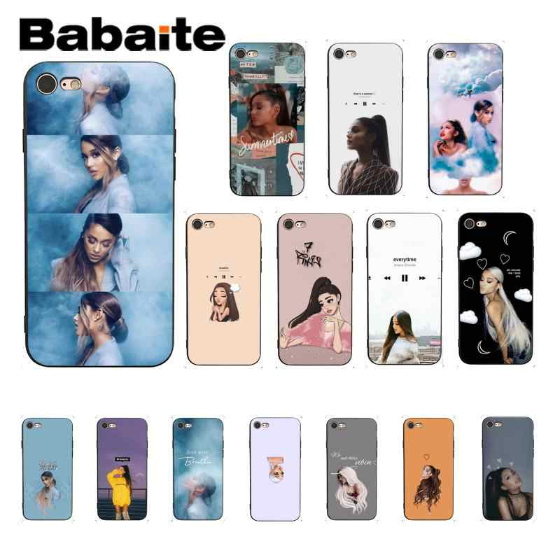 Babaite Ariana Grande DIY Luxury High-end Protector โทรศัพท์กรณีสำหรับ iPhone 6S 6plus 7 7plus 8 8Plus X Xs MAX 5 5S XR