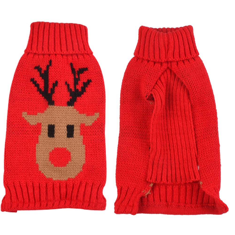 S/M/L/XL Pet Christmas Dog Kniiting Sweatshirt Pajamas Puppy Pet Cat Dog Sweater Knitted Coat Apparel Christmas Clothes