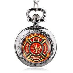 2016 новинка Винтаж бронзовый пожарный управление карманные часы Пожарная служба цепочки и ожерелья Fob часы человек женские подарок