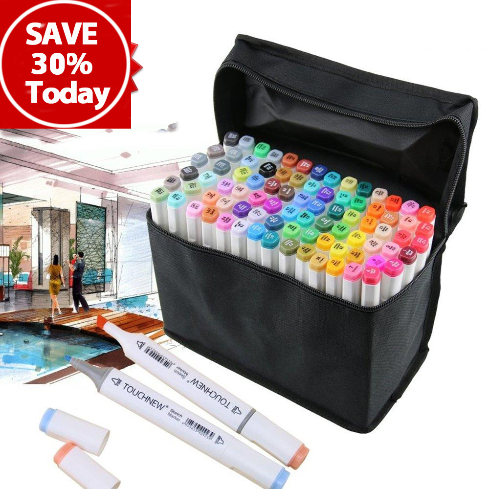 TOUCHNEW 30/40/60/80/168 Colors Dual Head Art Sketch Marker Pen For Artist Manga Graphic marker art supplies touchnew 30 40 60 80 168 colors dual head art sketch marker pen for artist manga graphic copic marker art supplies
