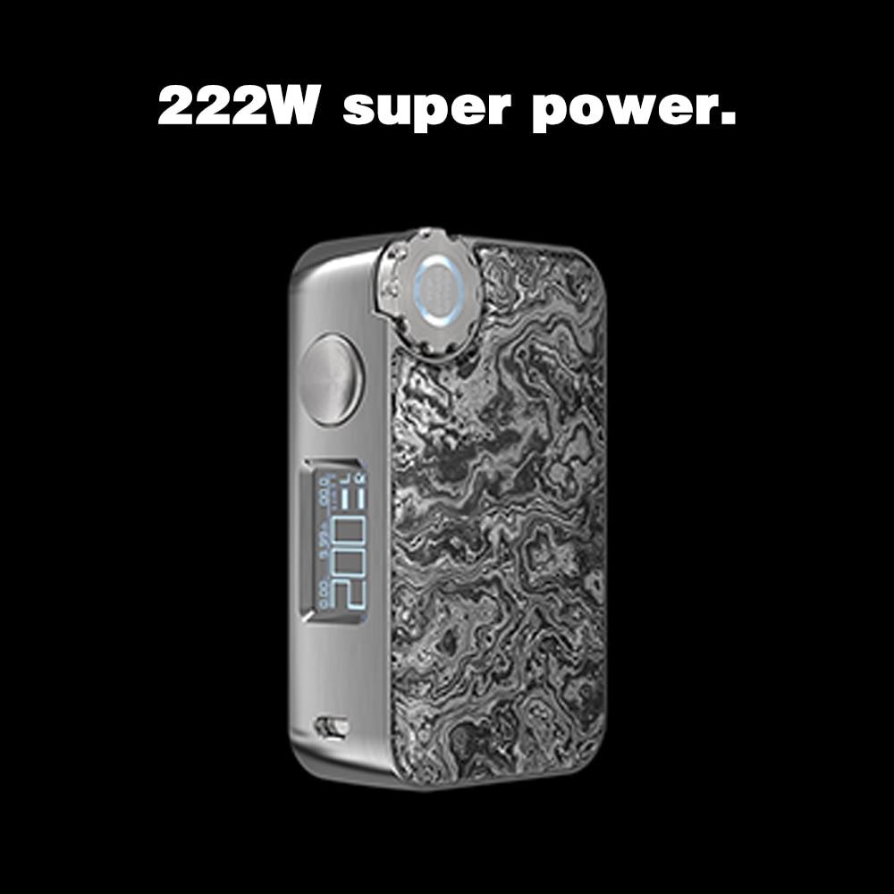 Caja Mod vapores caja de cambios 222 W TC carga inalámbrica OLED pantalla 510 rosca resina Panel 18650 batería cigarrillo electrónico Vape mod - 2