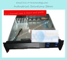 NEW 2u firewall computer case 8 ethernet port aluminum panel firewall ros computer case double server large-panel