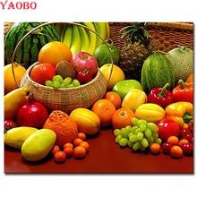 Diy Алмазная картина для рисования фруктов и овощей вышивка крестиком Алмазная вышивка распродажа 5d полная квадратная дрель мозаика Стразы