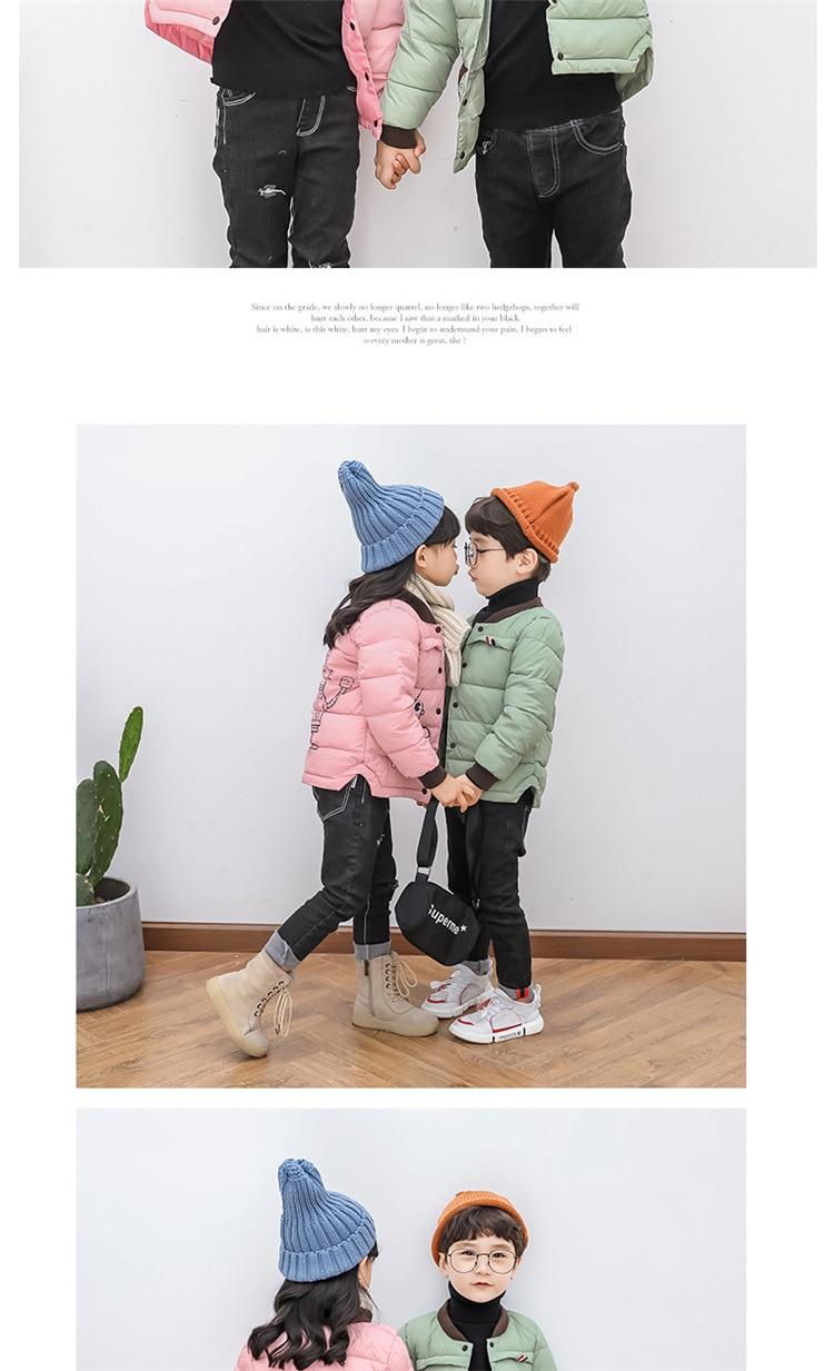 2018 Baby Boys Children Outerwear Coat Kids Jackets For Boy Girls Winter Jacket Warm Hooded Children Clothing Gray Khaki Red (16)