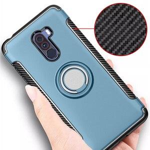 Чехол POCOPhone F1, противоударный чехол с магнитным кольцом-держателем из ТПУ и поликарбоната для Xiaomi POCO Phone F 1, чехол для Pocophone F1