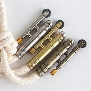 Image 2 - 金属火災スターターポータブルサバイバルツール灯油ライターアウトドア防風火綿ロープなしオイル